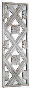 PTMD Wandpaneel/Spiegel 'Lucien' 120 x 40cm, kleur Wit