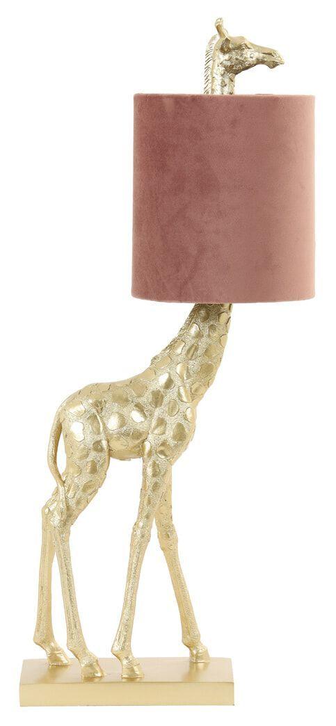 Light & Living Tafellamp 'Giraffe' 61cm, kleur Oud Roze