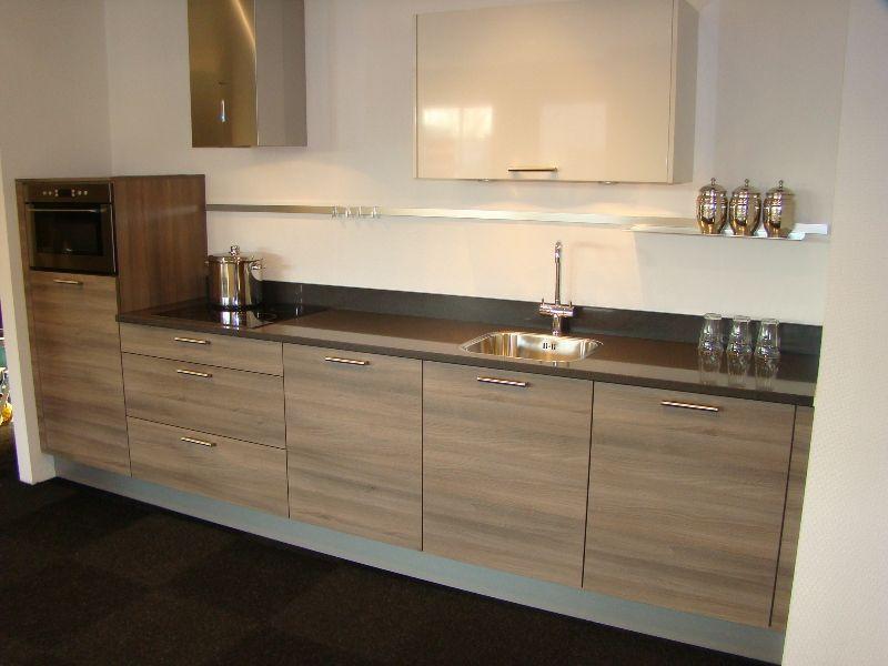 Keuken Wit Grijs : Nederland! Rechte opstelling Acacia grijs met kristal wit [45450