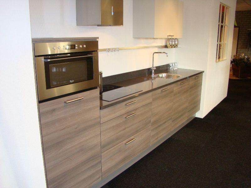 Keuken Grijs Hoogglans : grijs met kristal wit 45450 kleur acacia grijs en kristal hoogglans